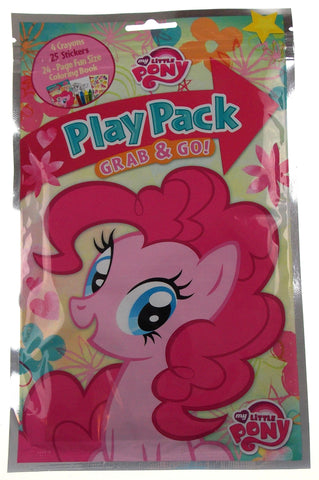 Lot 3 My Little Pony Play Packs Grab & Go Coloring Book Crayons Stickers Favors - FUNsational Finds - 1