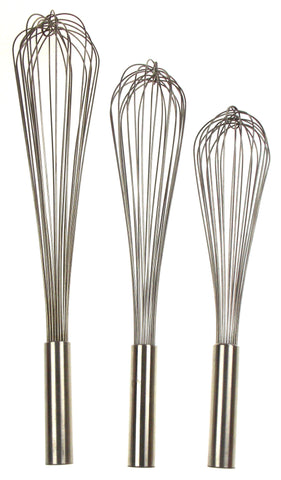 Capco Piano Whip Whisk Set of 3 Large Restaurant Quality 18-8 Stainless Steel SS - FUNsational Finds - 1