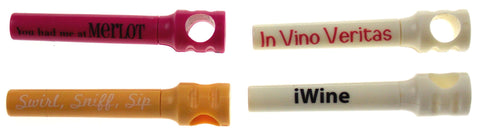 Wine Corkscrew Lot 4 Novelty Plastic The Wined Up Portable Swirl Sniff Sip iWine - FUNsational Finds - 1