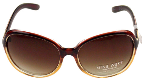 ... Nine West Cat Eye Sunglasses Brown Clear 100% UV Protection Plastic  60-19- ...