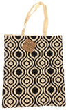 Black White Apron & Carry Bag Tote Set 2 Home Concepts Casa Printed 100% Cotton - FUNsational Finds - 3