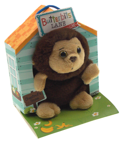 Ganz Butterbits Lane Chestnut Monkey Plush House Series 1 Beanbag Stuffed Animal