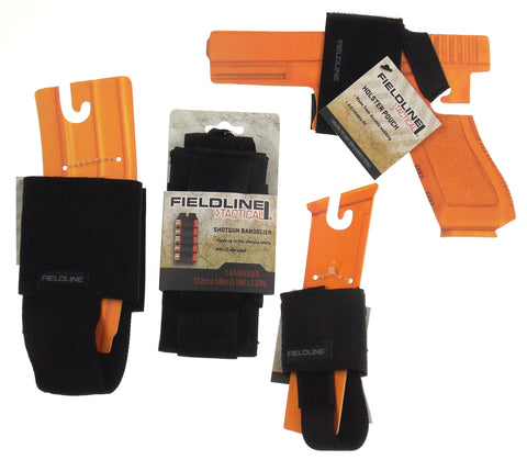 Fieldline Tactical Set of 4 Holster Pouch Pistol Mag Magazine Pouch Shotgun