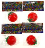 "Amazing Splat Tomato Ball Lot of 4 Red Fun Toy Joke Gag Gift 2"" Squishy Novelty"
