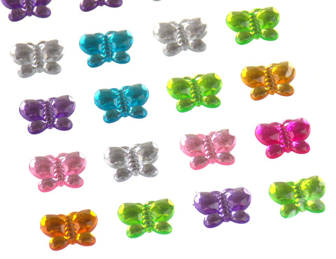 Butterflies Self Adhesive Gems Stick On 15mm 140 pcs Lot 5 Triveni Crafts Cards - FUNsational Finds - 1
