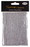 Silver Bling Ribbon Mesh 12x35cm Lot 5 Triveni Crafts Wedding Supplies Wrap Vase - FUNsational Finds - 2