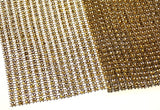 Gold Bling Ribbon Mesh 12x35cm Lot 5 Triveni Crafts Wedding Supplies Wrap Vase - FUNsational Finds - 5