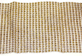 Gold Bling Ribbon Mesh 12x35cm Lot 5 Triveni Crafts Wedding Supplies Wrap Vase - FUNsational Finds - 3