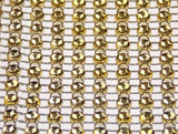 Gold Bling Ribbon Mesh 12x35cm Lot 5 Triveni Crafts Wedding Supplies Wrap Vase - FUNsational Finds - 1