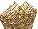 Gold Bling Ribbon Mesh 12x35cm Lot 5 Triveni Crafts Wedding Supplies Wrap Vase - FUNsational Finds - 6