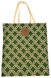 Green White Apron & Carry Bag Tote Set 2 Home Concepts Casa Printed 100% Cotton - FUNsational Finds - 3