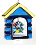 Romero Britto Christmas Ornaments Set 5 Frog Dog House Bear Cat Butterfly Ball - FUNsational Finds - 9
