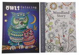 Adult Coloring Books Lot of 5 Woodland Mandalas Owls Floral Forest Quality Paper