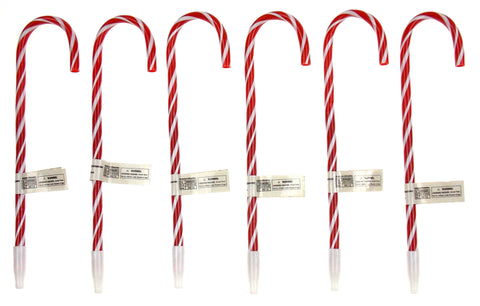 Set of 6 Candy Cane Shaped Black Ink Pens Scented Peppermint 7