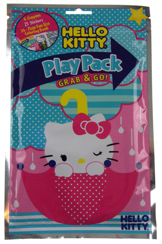 Lot 6 Hello Kitty Play Packs Grab & Go Family Friends Coloring Crayons Stickers - FUNsational Finds - 1