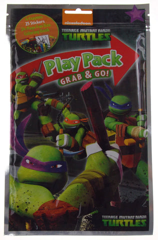 Set 7 Nickelodeon Teenage Mutant Ninja Turtles Play Packs Grab Go Coloring Book - FUNsational Finds - 1