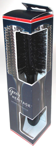 Lot 2 Goody Heritage Collection Hair Brush Wood Boar Bristles Brown Round Shine - FUNsational Finds - 1