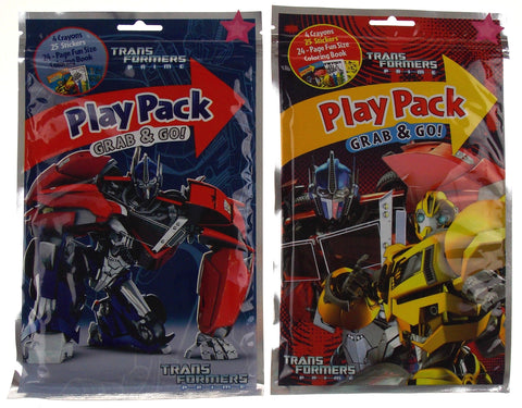 Lot 8 Transformers Prime Play Pack Grab & Go Coloring Book Crayons Stickers Gift - FUNsational Finds - 2