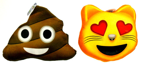 Emojeez Emoji Pillows Set 2 Cat All About Meow Donut Give A Poo Soft Plush Gift - FUNsational Finds - 1