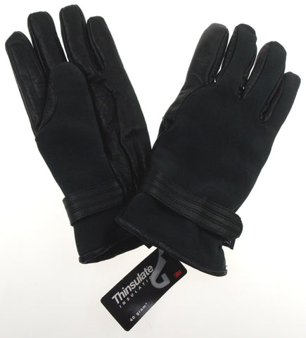 Accessories Black Leather Driving Dress Gloves 3M Thinsulate Insulation Mens L - FUNsational Finds - 1