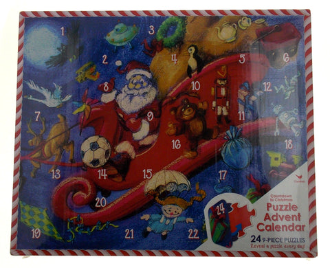 Countdown To Christmas Puzzle Advent Calendar 24 Puzzles Reveal Everyday