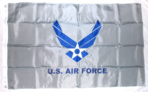 United States Air Force Logo Double Sided Nylon Embroidered 3x5 Foot Flag Banner