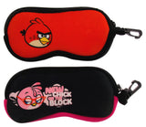 Lot 2 Angry Birds Optical Case Sunglasses Eyeglass Reading Soft Zipper Clips - FUNsational Finds - 1