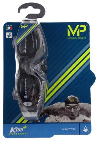 Michael Phelps K180+ Goggles Mens Gray Smoke Curved Lens UVA UVB Italy 221945 - FUNsational Finds - 1