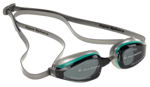 Aqua Sphere K180 Goggles Ladies Silver Smoke Curved Lens UVA UVB Italy 173140 - FUNsational Finds - 1