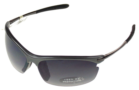 Arizona Jean Company Rectangular Semi Rimless Sunglasses Gray Silver 100%UV - FUNsational Finds - 1