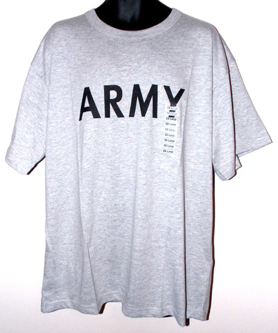 Army Short Sleeve T-Shirt Mens Green Gray Choice Size Rothco Cotton Polyester - FUNsational Finds - 1