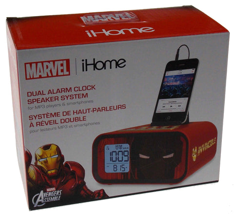 Marvel iHome Avengers Iron Man Dual Alarm Clock Speaker System MP3 Smartphone - FUNsational Finds - 1
