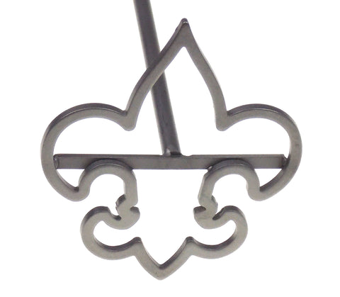 BSA Boy Scouts of America Branding Iron Fleur De Lis Wood Storage Box Metal 15""