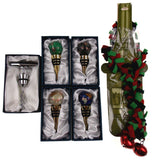 Ball Glass Wine Stopper Corkscrew Decoration Set 6 Artistic Creations Hand Made - FUNsational Finds - 2