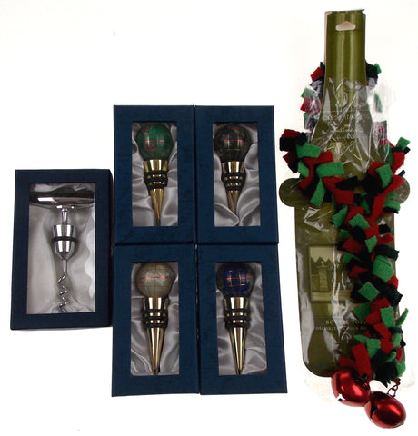 Ball Glass Wine Stopper Corkscrew Decoration Set 6 Artistic Creations Hand Made - FUNsational Finds - 1