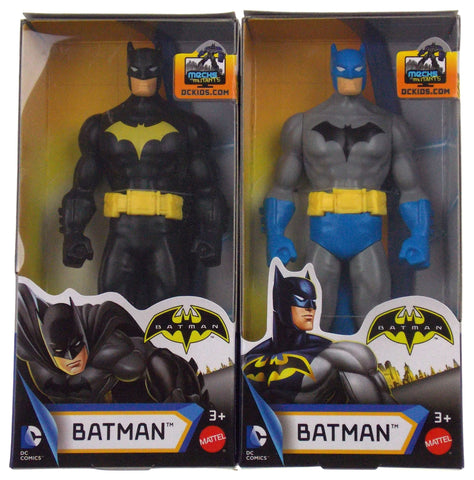 "Mattel DC Comics Kids Batman Black Gray 6"" Action Figurine Superhero Mint in Box"