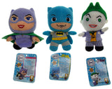 Lot 3 Batman Joker Catwoman DC Comics Originals Little Mates Stuffed Plush Toy - FUNsational Finds - 3