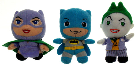 Lot 3 Batman Joker Catwoman DC Comics Originals Little Mates Stuffed Plush Toy - FUNsational Finds - 1