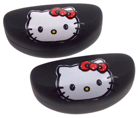 Hello Kitty Eyeglass Sunglass Hard Case White Black Lot 2 Licensed Kids Padded