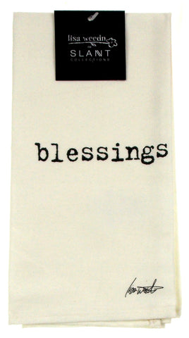 Blessings White Cloth Napkins Lot 6 18x18 Cotton Lisa Weedn Slant Collections - FUNsational Finds - 1