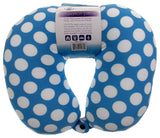 Neck Support Air Car Travel Pillow Blue Polka Dots Microbeads Relaxation Squishy - FUNsational Finds - 2
