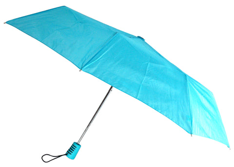 "Totes Automatic Blue Teal Umbrella 42"" Large Auto Open Travel Compact Mini Folds - FUNsational Finds - 1"