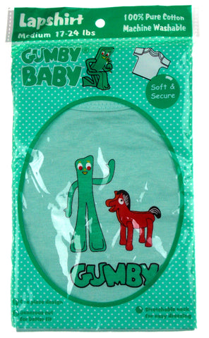 Gumby Baby Cotton Lapshirt Pokey Horse Green 12-18 mo 17-24 lb Med Shirt Toddler - FUNsational Finds - 1