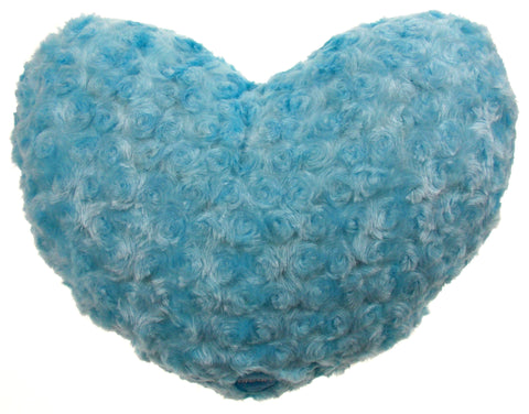 "Blue Heart Plush Throw Pillow Multi Color LED Light Up Flash 13"" Microbeads - FUNsational Finds - 1"