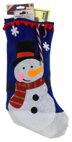 Boys Christmas Stocking Filled Snowman Gift Frosty Godzilla Flashlight Stickers - FUNsational Finds - 1