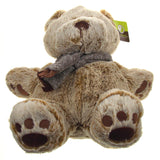 Animal Adventure Owen Brown Bear Plush Scarf Super Soft Toy Sits Up Stuffed