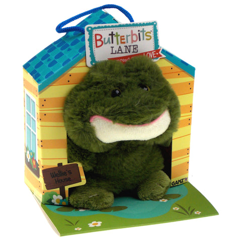 Ganz Butterbits Lane Wellie Frog Plush House Series 1 Beanbag Stuffed Animal