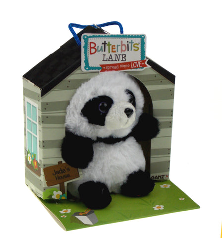 Ganz Butterbits Lane Jade Panda Plush Jade House Series 1 Beanbag Stuffed Animal
