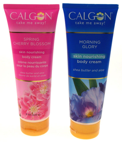 Calgon Body Cream Morning Glory Spring Cherry Blossom Lot 4 Shea Butter Aloe 8oz - FUNsational Finds - 1