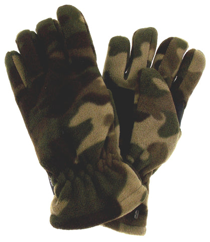 Green Camo Athletech Fleece Gloves 3M Thinsulate Lined Mens Winter Snow M L - FUNsational Finds - 1